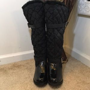 Avenue Quilted Patent Leather Boots